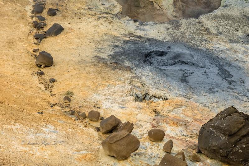 Detail in a hot springs northeast of Selfoss