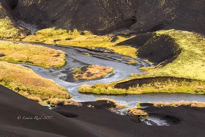 Stream details in volcanic highlands