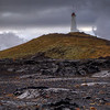 Reykjanes Lighthouse With Steam, Reykjanes Peninsula