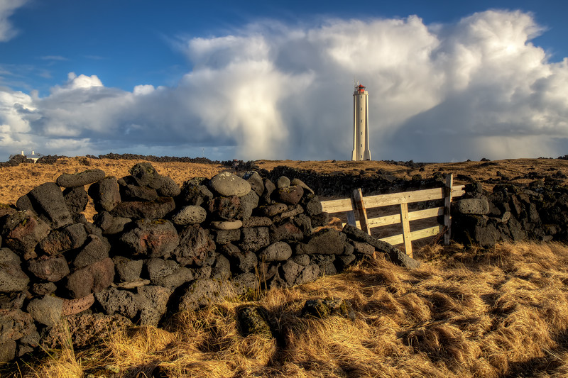 Lighthouse With Fence, Arnarstapi