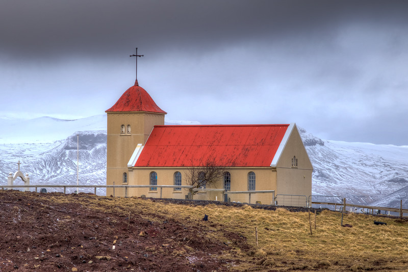 Church On Hill, Snaefelsness Peninsula