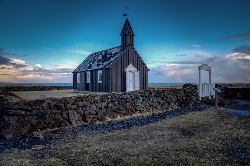 Budir Church With Gate, Snaefelsness Peninsula
