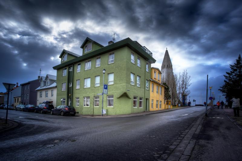 Houses With Hallgrimskirkja Church, Reykjavik