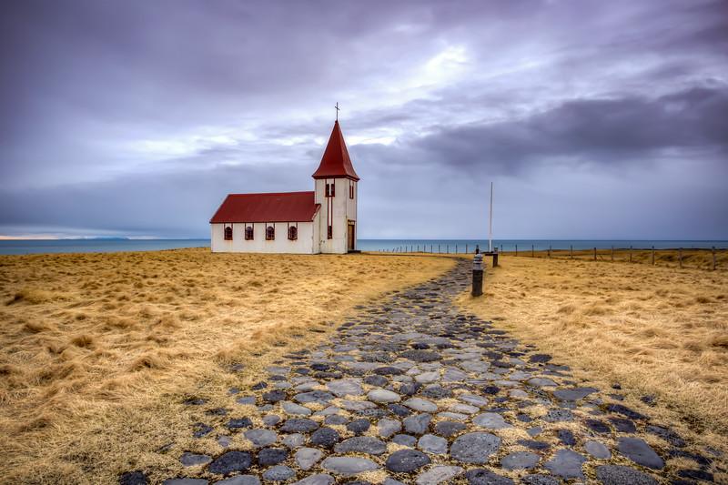 Church, Hellnar,  Snaefelsness Peninsula