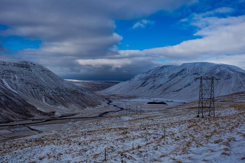 Telephone Poles, North Iceland