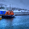Harbor At Siglufjordur During Snowstorm, North Iceland