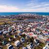 Aerial of Reykjavik capital of Iceland
