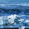 Blue ice melting