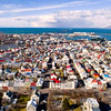Aerial of downtown Reykjavik city
