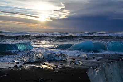 Black Sand Glacier Beach in Iceland