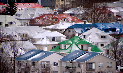 Reykjavik Rooftops - Colored tin roofs brighten the day