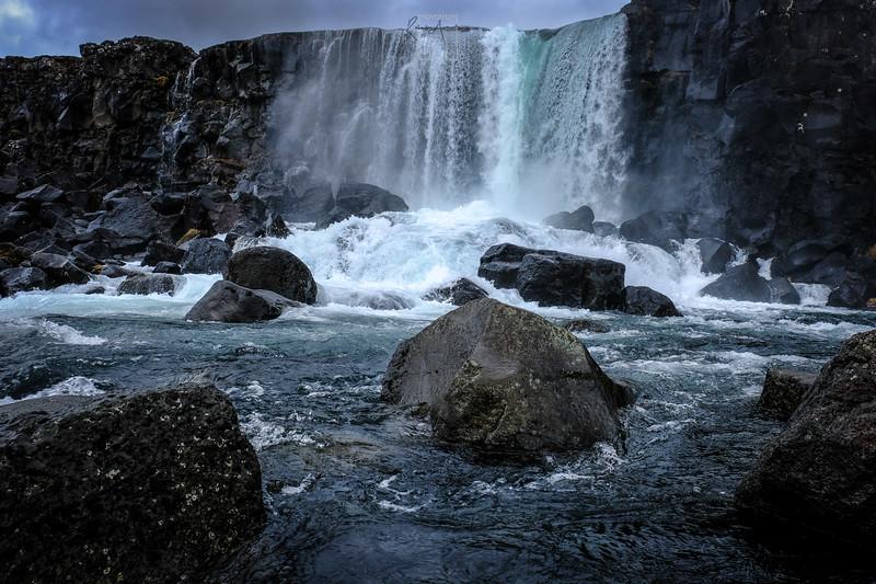 Waterfall at Pingvellir