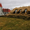 Glaumbaer Church and turf houses.