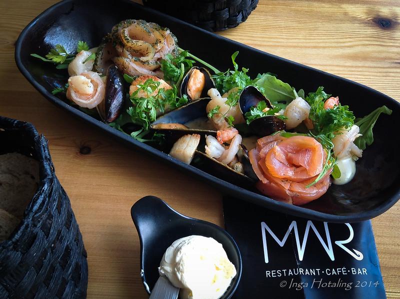 Lunch at MAR Restaurant - Reykjavik Harbor.
