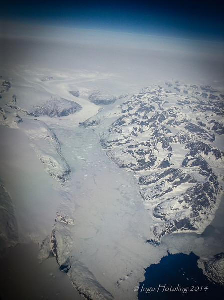 Greenland - Iceland Flight Reykjavik to Boston