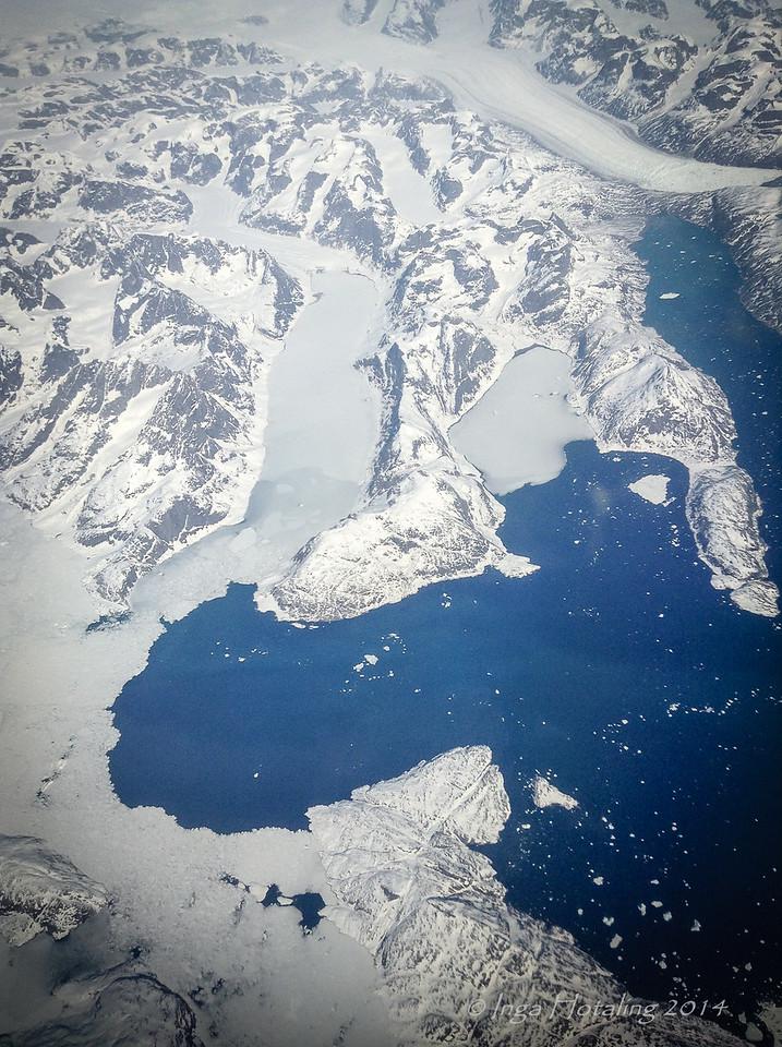 Greenland - Iceland Flight Reykjavik to Boston
