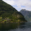 Village in Geiranger Fjord