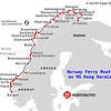 Our Route on the MS Kong Harald