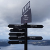 Direction sign atop Mount Fløyen