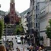 Street scene in Bergen - Johanneskirken in background