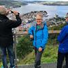Bev at Mount Fløyen overlooking Bergen
