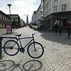 Reykjavik street scene with Hallgrimskirkja