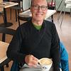 Ken enjoying coffee in Reykjavik