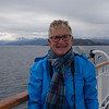 Bev enjoying the Arctic scenery