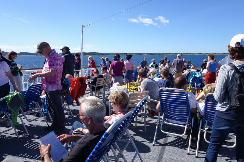 Sunny day on Deck 7 - Cruising north from Trondheim