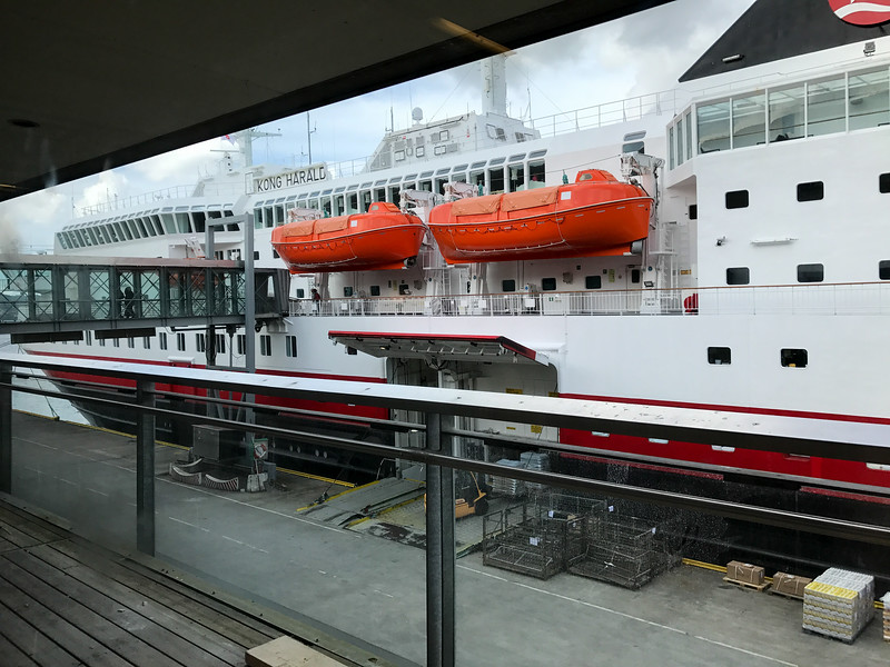 MS Kong Harald at Hurtigruten Terminal in Bergen