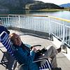 Ken soaking up the Arctic sunshine