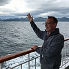 Ken waving farewell to beautiful Norway