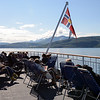 Sunny day on Deck 5 - north of the Arctic Circle