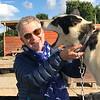 Bev with Husky at Villmarkssenter