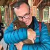 Ken with 4 week old Husky puppy at Villmarkssenter