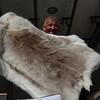 Vendor with reindeer pelt