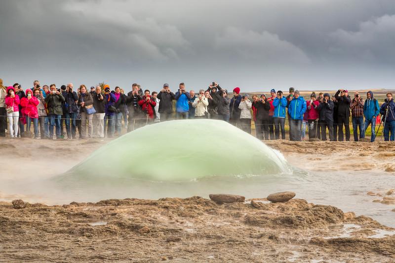 Water Dome, Strokkur Geyser, Iceland