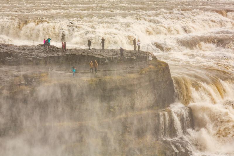 Waterfall Observers, Gullfloss, Iceland