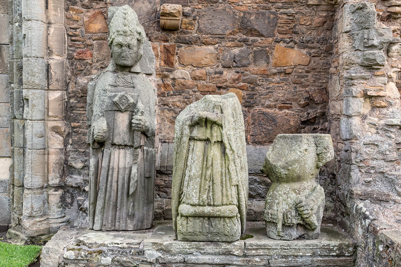 Statues from the Central Tower, Elgin Cathedral