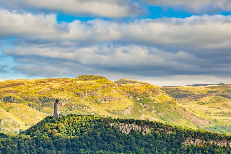 William Wallace Momument Viewed from Stirling Castle