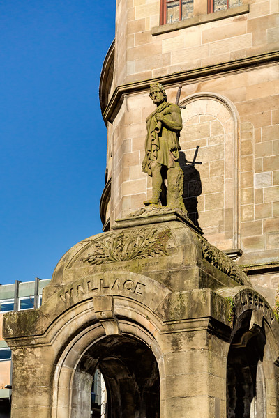 William Wallace Statue in Old Town Stirling