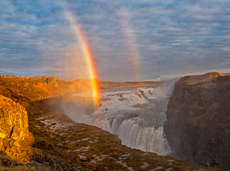 Rainbows over Gullfoss