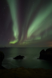 The beautiful aurora is often seen in Iceland
