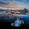 sunrise at jokulsarlon glacier lagoon, Iceland