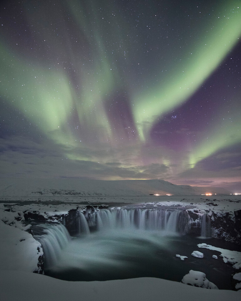 Iceland is a beautiful country in winter