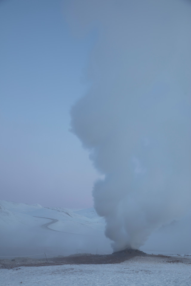 But inland there is much more to see with geothermal geysers