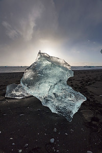 and of course on the black sand beaches the frozen icebergs of Jokulsaron