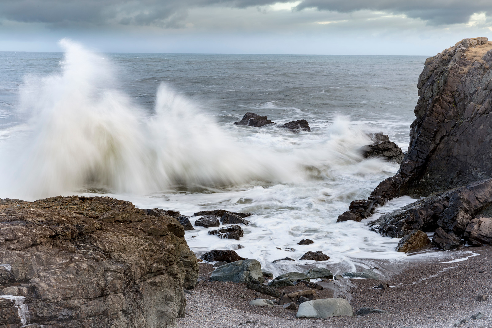 Never underestimate the power of the Atlantic as the waves crash onto the beach