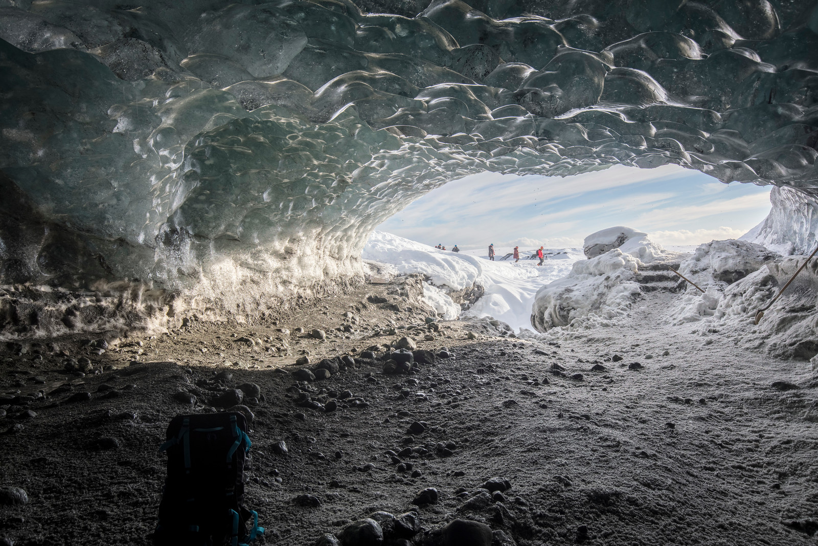 Ice caves large enough to walk in and explore add a whole new dimension