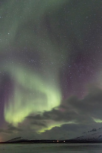 Followed on clear nights by the glory of the aurora borealis